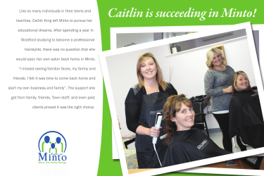 Caitlin & Hair Therapy Postcard Front